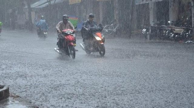 Hà Nội mưa to trong 2 ngày cuối tuần. Hình minh họa