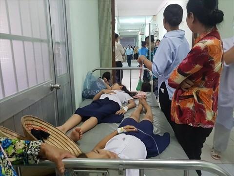 Học sinh Trường Tiểu học Lái Thiếu cấp cứu sau khi uống sữa