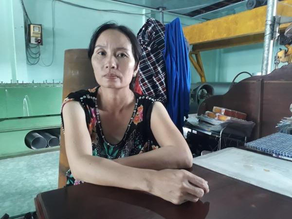 Bà Nguyễn Thị Vân (vợ ông Khánh) chia sẻ với PV.