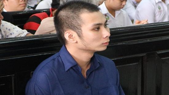 Bị cáo Luân tại phiên tòa