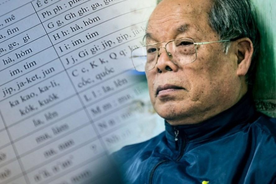 PGS Bùi Hiền và bộ chữ cái cải cách của ông.