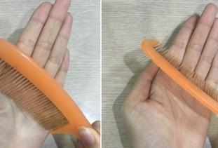 Chải lược vòng tròn vào lòng bàn tay theo chiều kim đồng hồ 50 lần.
