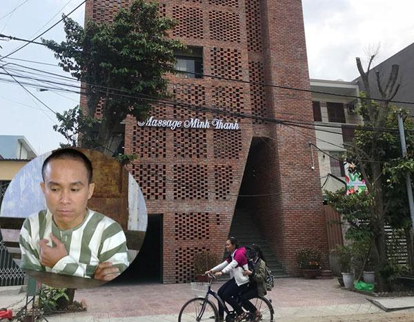 Chân dung Võ Văn Hiệu lúc gây ra vụ truy sát người tình và bị Công an tỉnh Quảng Trị bắt giữ (ảnh nhỏ) và cơ sở massager Minh Thành nơi xảy ra vụ án sát hại nữ nhân viên chấn động dư luận Đà Nẵng những ngày qua.