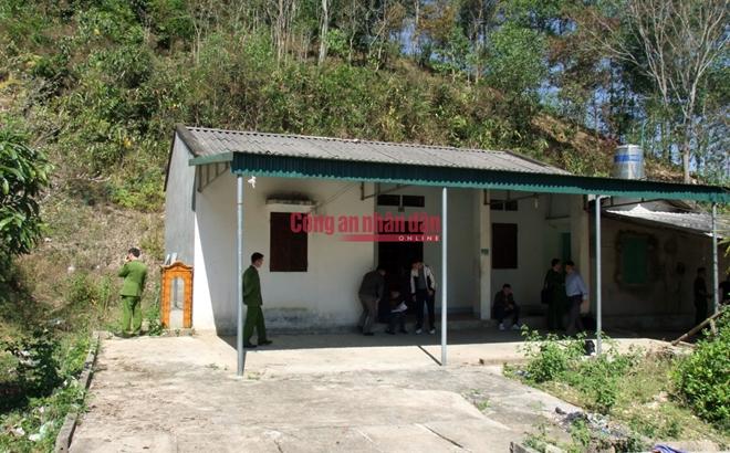 Căn nhà hoang nơi phát hiện th.i th.ể nạn nhân