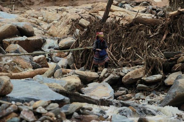 Sau trận lũ ống, bản Kháo Giống hoang tàn, đổ nát
