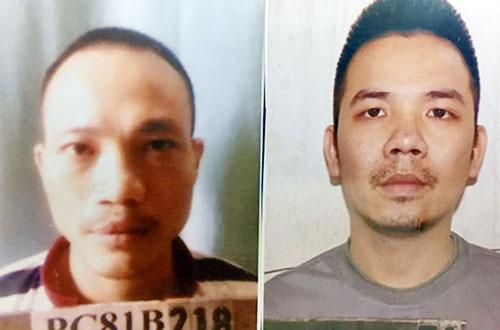 Nguyễn Văn Tình (bên phải) và Lê Văn Thọ