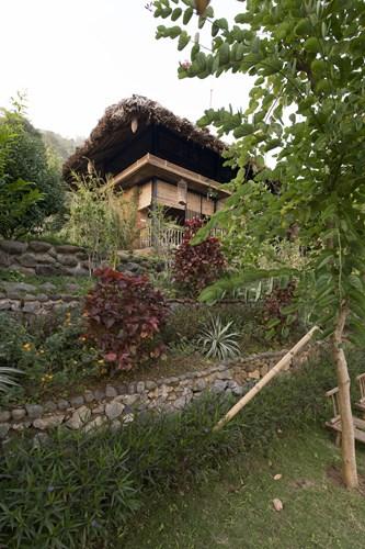 Từ những yêu cầu đó, kiến trúc sư đã thiết kế một ngôi nhà theo kiểu nhà sàn truyền thống của người Mường bản địa.