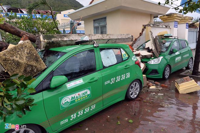 Cơn bão số 12 để lại hậu quả nặng nề cho khu vực Nam Trung Bộ. Ảnh:Hoàng Hà.