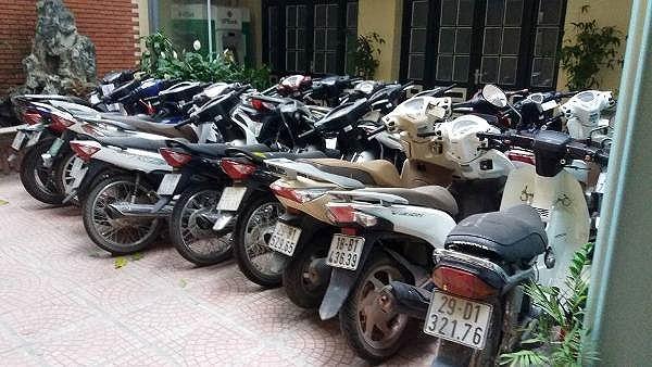 Số lượng xe máy lên tới cả gần 1000 chiếc bị nhóm đối tượng này trộm cắp, tiêu thụ trong suốt thời gian dài