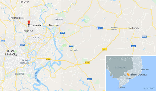 Địa điểm phát hiện vụ việc. Ảnh: Google Maps.