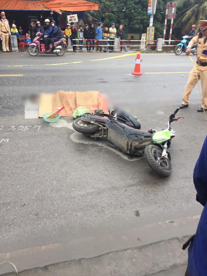 Hiện trường xảy ra vụ tai nạn. Ảnh: Facebook
