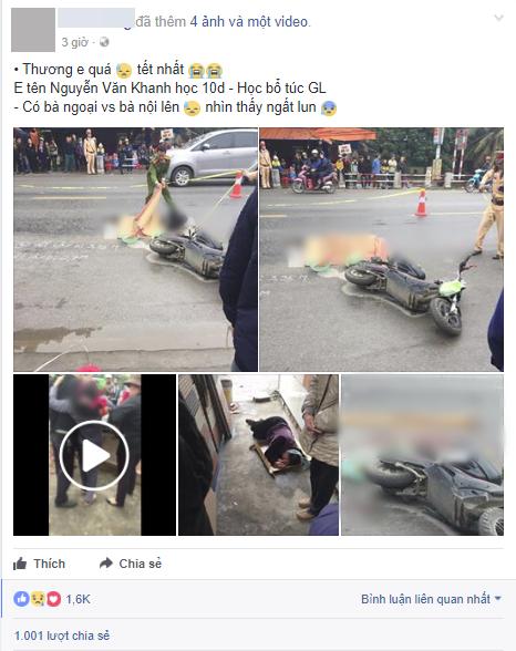 Vụ tai nạn thương tâm khiến nam sinh 16 tuổi tử vong.