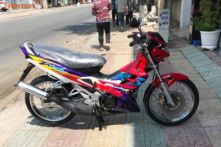 Chiếc xe máy được định giá trăm triệu đồng. Ảnh: Kiến Thức