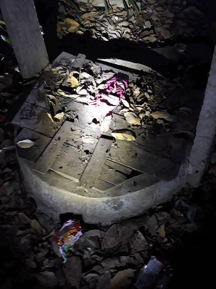 Khu vực giếng hoang nơi phát hiện thi thể bé gái