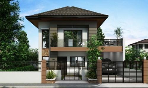 Với thiết kế nhỏ gọn, biệt thự mini 2 tầng với đầy đủ công năng sử dụng mang đến nét sang trọng tương tự các mẫu biệt thự khác. Ảnh: Kientrucnhadep24h.