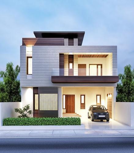 Biệt thự mang phong cách đặc biệt với đường nét mềm mại, vuông vức. Ảnh: Kientrucnhadep24h.