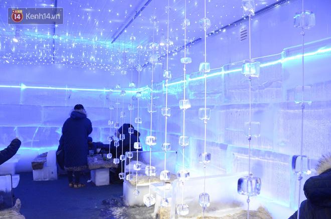 Không gian phòng băng được làm bằng 100% băng lạnh.