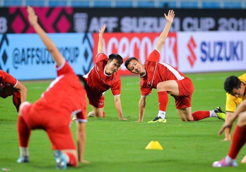 Đội tuyển Việt Nam đón tin cực vui trước trận đấu với Campuchia. Ảnh: Zing