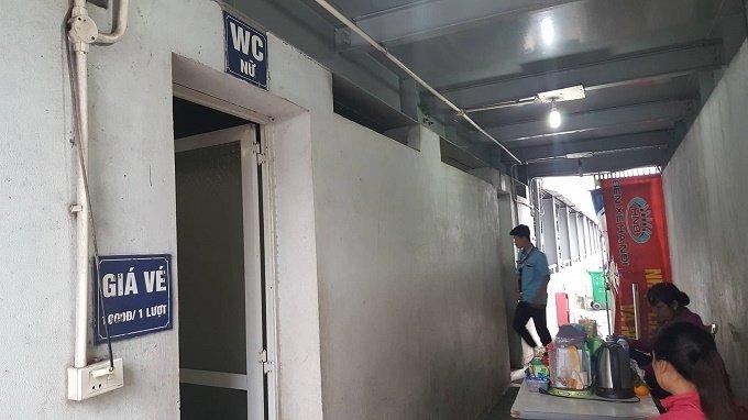 Nhà vệ sinh bến xe Giáp Bát (Hoàng Mai, Hà Nội)