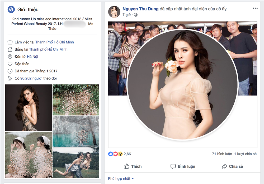 Đến 28/11/2018, sau gần 3 tháng ở ẩn, Thư Dung đã mở lại Facebook của mình. Cô có đăng tấm ảnh mình cầm bông hoa hồng trên tay. Động thái này của Thư Dung đã thu hút rất nhiều sự quan tâm chú ý từ phía dư luận.