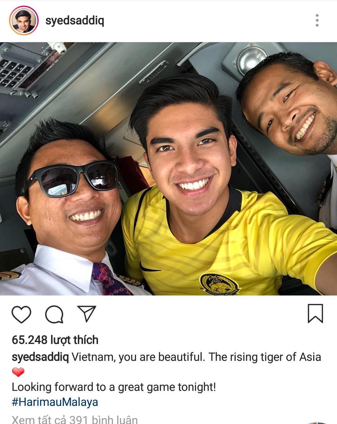 Bộ trưởng26 tuổi Syed Saddiq chụp ảnh đăng trên trang Instagram cá nhân khi đến Hà Nội