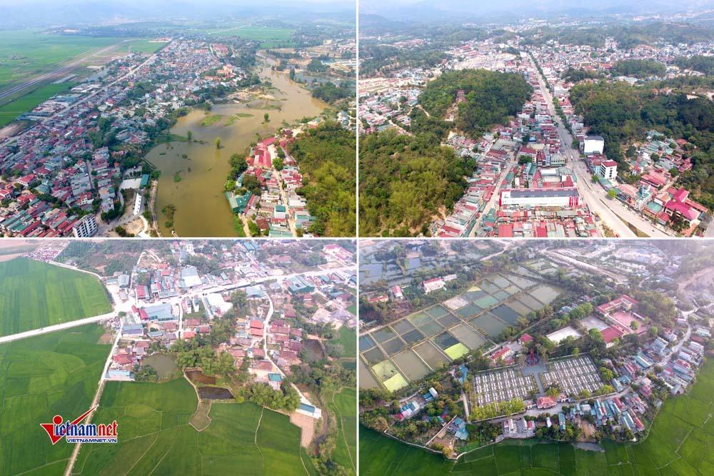 TP Điện Biên Phủ ngày nay với những mái nhà ngói đỏ bên dòng Nậm Rốm và bao quanh bởi cánh đồng Mường Thanhxanh mướt
