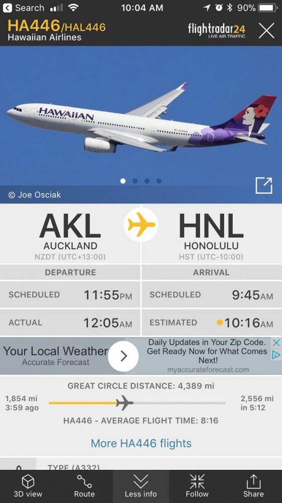 Lịch trình chuyến bay HAL446.