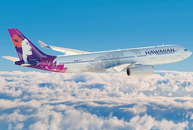Máy bay của hãng hàng không Hawaiian Airlines. Ảnh: Facebook
