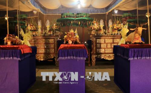 Lễ vật dâng cúng tại lễ tế Giao. Ảnh: Hồ Cầu/TTXVN
