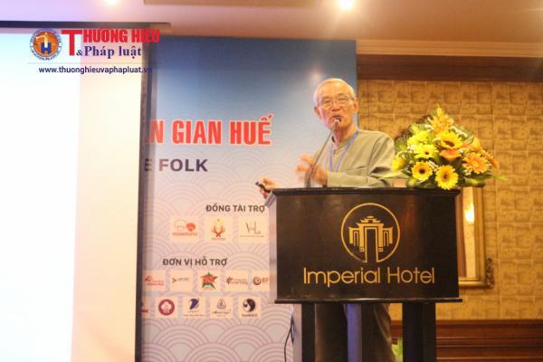 Tiến sĩ Nguyễn Nhã phát biểu về vấn để ẩm thực Huế
