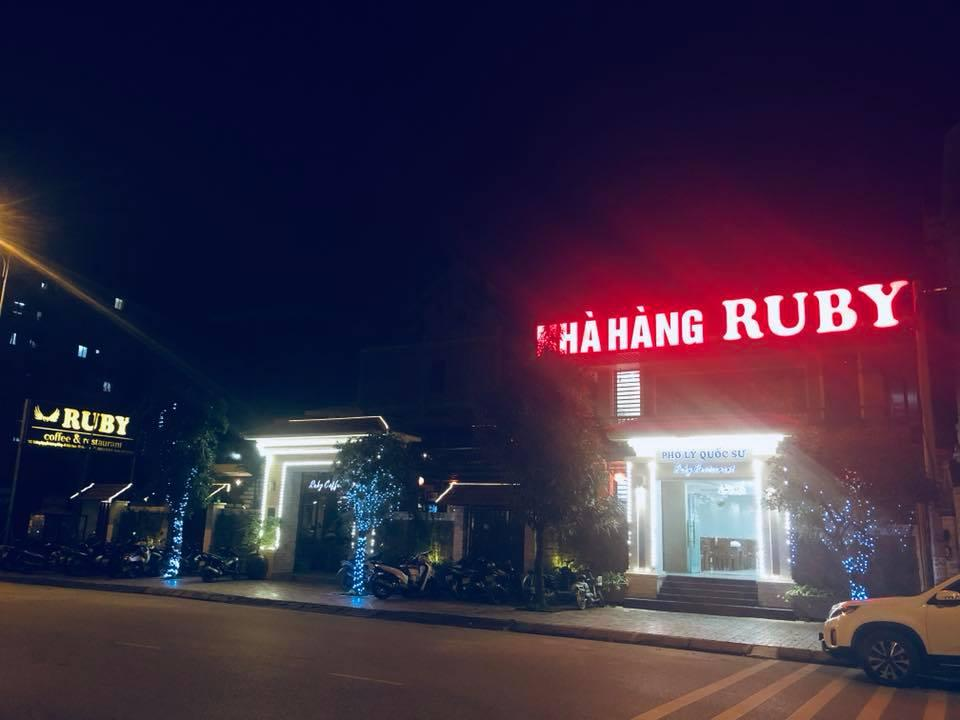 Ruby Coffee & Restaurant nằm trên đường Nguyễn Lương Bằng. Ảnh: FB Ruby Coffee & Restaurant.