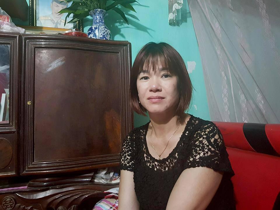 Chị Nông Thị Cúc, vợ anh Tiến: Anh ấy vốn hiền lành, không muốn người khác lo lắng về mình