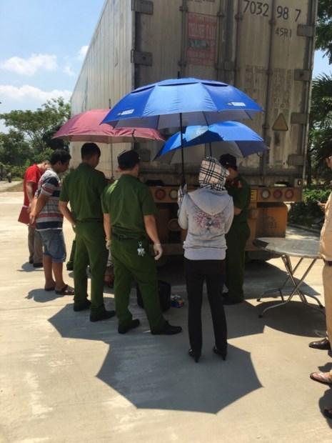 Xe đầu kéo bị lực lượng CSGT Quảng Nam bắt giữ. Ảnh CSGT