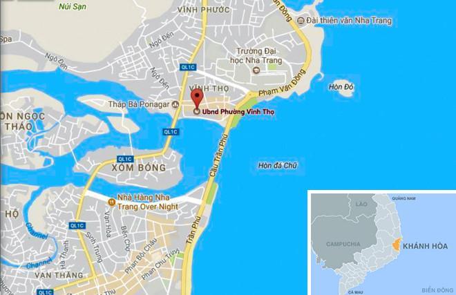 Phường Vĩnh Thọ (TP Nha Trang) nơi kẻ trộm bị bắt quả tang. Ảnh: Google Maps