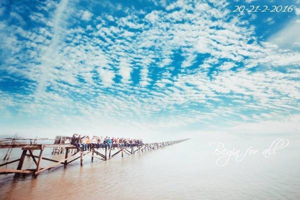 Cây cầu 'dài vô tận' ở Điệp Sơn gây sốt trong cộng đồng du lịch. (Nguồn: Thiều Sang)