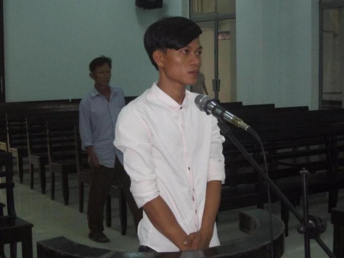 Bị cáo Trần Thành Long tại phiên tòa. (Ảnh: báo Pháp luật TP HCM)