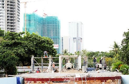 Công viên tại khu 1 đang được chủ đầu tư triển khai