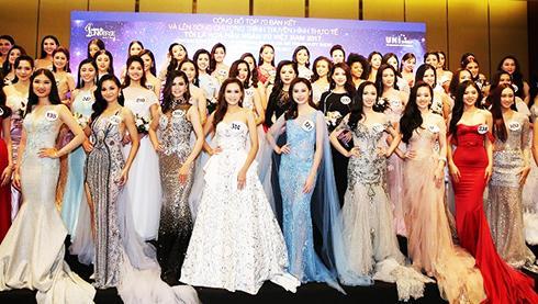 Các thí sinh lọt vào bán kết cuộc thi Hoa hậu Hoàn vũ Việt Nam 2017