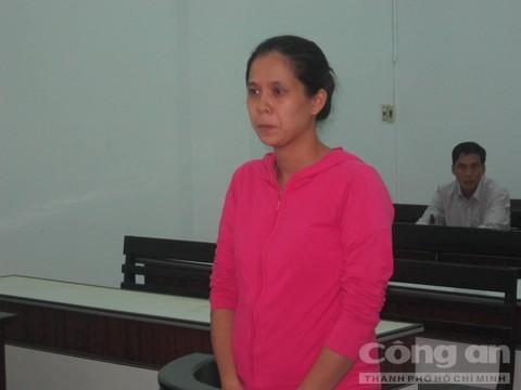 Bị cáo Hương tại tòa