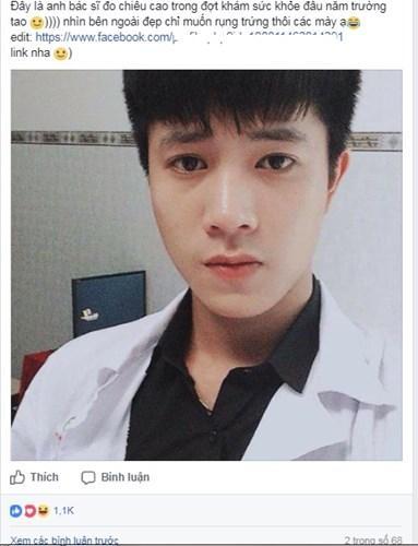 Chàng nam thần làm trong bệnh viện đang khiến bao cô gái muốn hóa Âu Cơ đó có tên Nguyễn Ngọc Lân, sinh năm 1995, hiện là kỹ thuật viên chẩn đoán hình ảnh tại Bệnh viện Đa khoa tỉnh Khánh Hòa.
