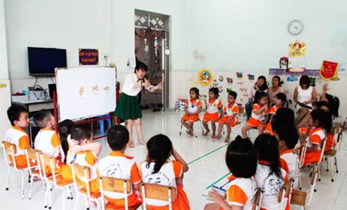Một buổi học tại Trường Mầm non 3-2 (TP. Nha Trang, tỉnh Khánh Hòa). Nguồn: baokhanhhoa.com.vn
