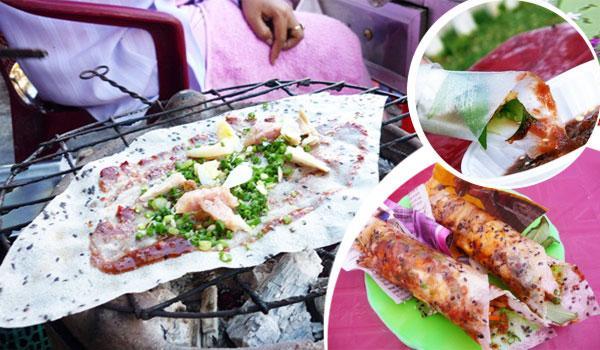Bánh tráng nướng mắm ruốc - món ăn vặt không nên bỏ qua ở Phan Thiết. Ảnh sưu tầm.