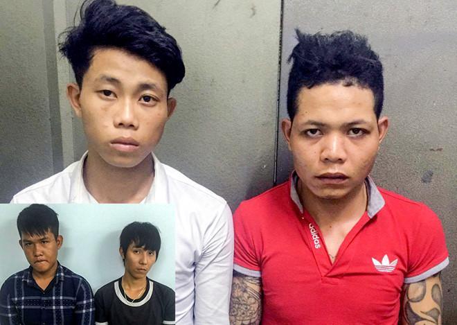 Nhóm thanh niên bị bắt giữ sau khi cướp giật của du khách. Ảnh: An Bình.