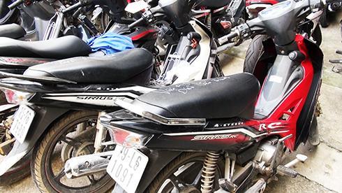 Tang vật trong các vụ trộm xe máy bị Công an TP. Nha Trang thu giữ