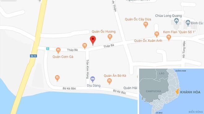 Đường Tháp Bà (phường Vĩnh Thọ), nơi xảy ra vụ án. Ảnh: Google Maps.