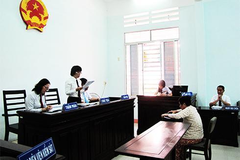 Bị cáo Lân tại phiên tòa phúc thẩm.
