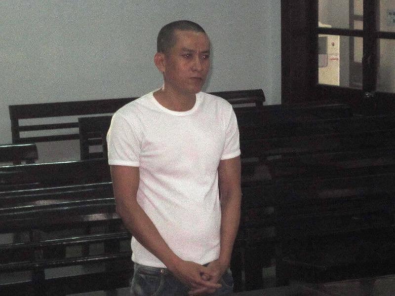 Bị cáo Hùng tại tòa