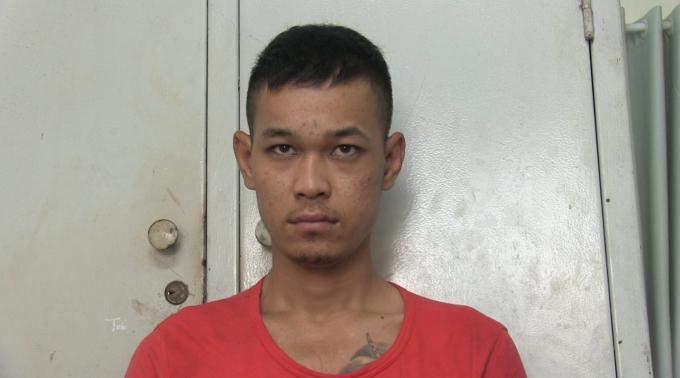 Đối tượng Phạm Minh Lộc tại cơ quan công an.