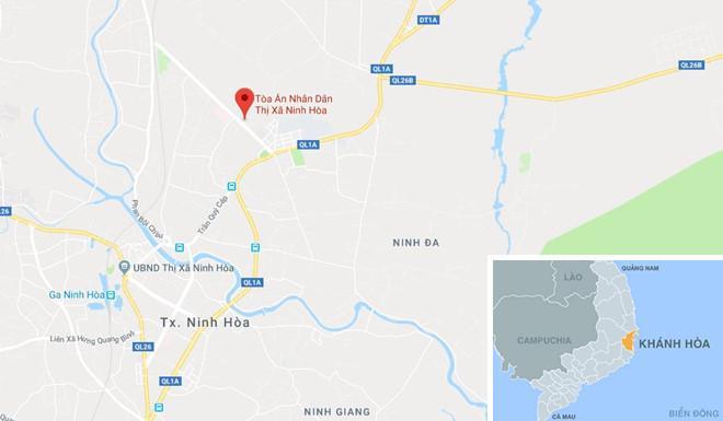 Tòa án Nhân dân thị xã Ninh Hòa. Ảnh: Google Maps.