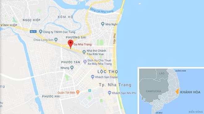 Ga Nha Trang. Ảnh: Google Maps.